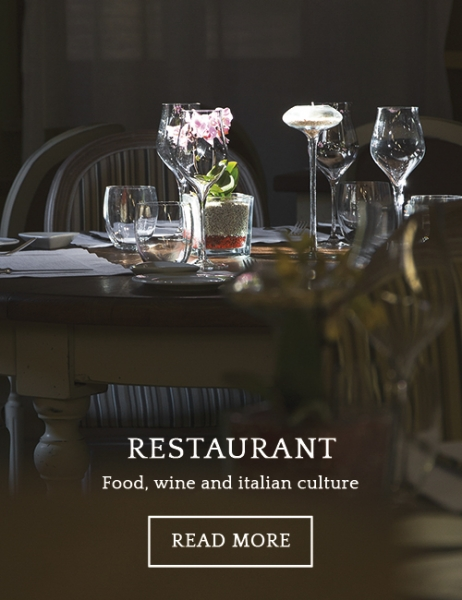 Umbria Restaurants. La locanda del Capitano, chef Giancarlo Polito Montone gourmet restaurant