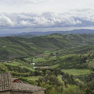 Umbria verde. Vacanze in alta valle del Tevere a Montone  bandiera arancione