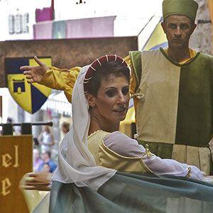 Montone rievocazione storica La donazione della Santa Spina. Braccio Fortebraccio da Montone