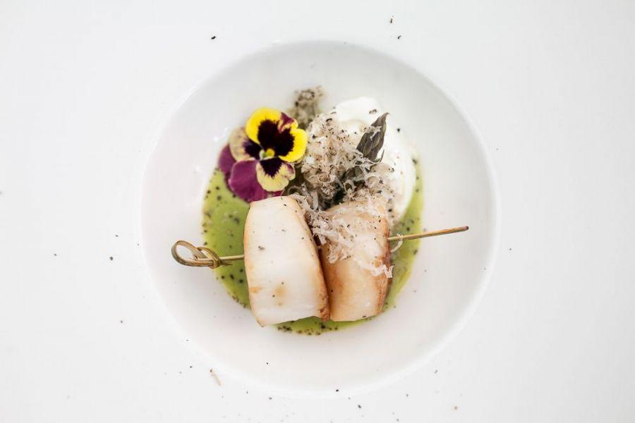 Menu degustazione raffinati piatti di pesce ristorante La Locanda del Capitano Montone