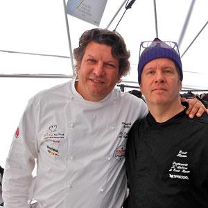 Giancarlo Polito con Ernst Knam famoso chef di pasticceria. Ristoranti Perugia, Umbria