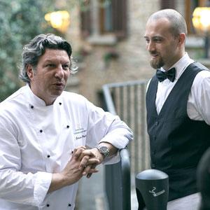 Giancarlo Polito chef della Locanda del Capitano a Montone uno dei borghi più belli d