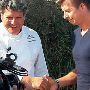 Umbria - Polonia: Chef Giancarlo Polito con Karol Okrasa capo chef del ristorante Platter a Varsavia