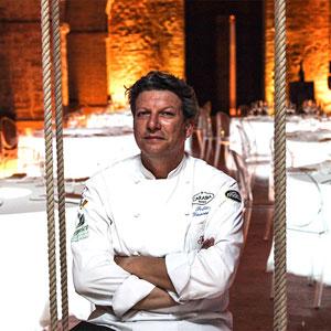Eventi in Umbria, matrimonio vip in castello. Chef Giancarlo Polito, il Capitano