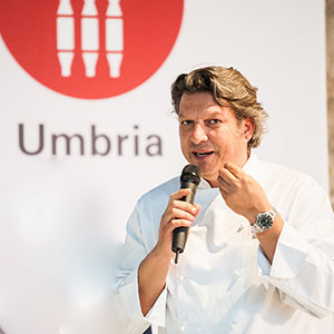 Umbria Region workshop chef Giancarlo Polito. The Captain