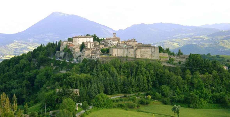 Montone famous medieval small village in Umbria near Città di Castello Umbertide
